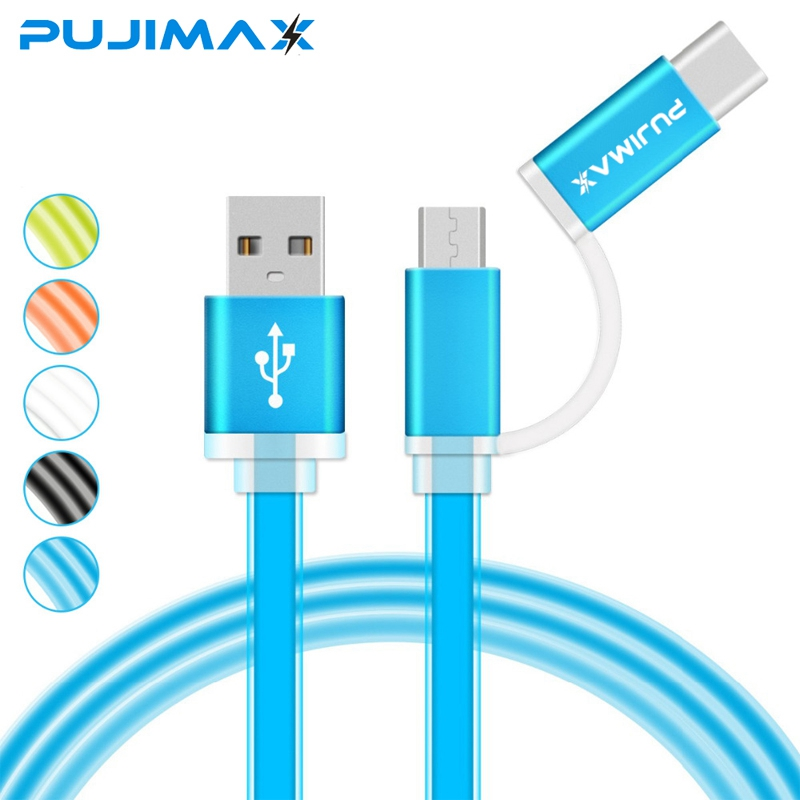 2-in-1 USB for Micro & Type-C USB Cable